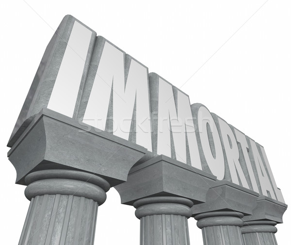 Immortal Word Stone Marble Columns Indestructible Neverending Li Stock photo © iqoncept