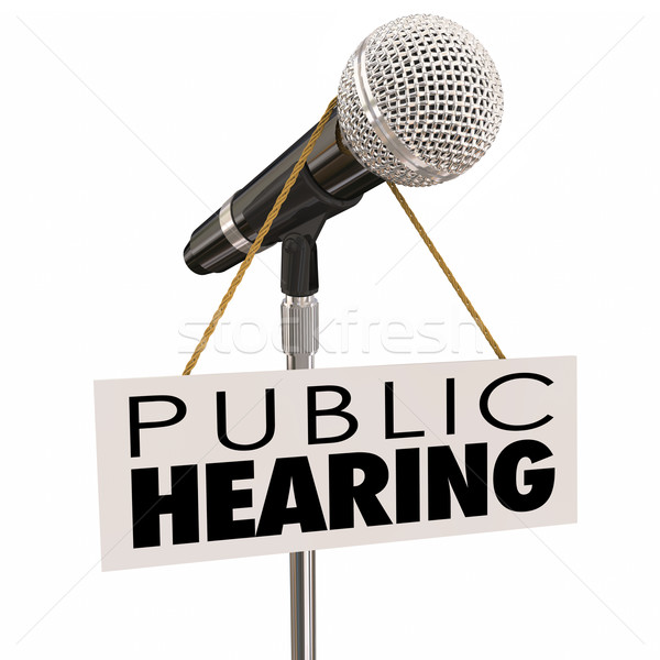 Public Hearing Information Meeting Share Opinion Feedback Stock photo © iqoncept