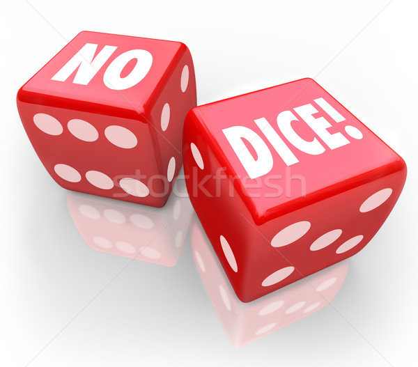 No Dice Two Red Cubes Impossible Chance Bet Stock photo © iqoncept