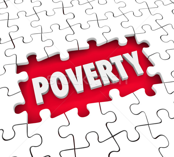 Poverty Puzzle Hole Poor Living Conditions Hunger Puzzle Pieces  Stock photo © iqoncept