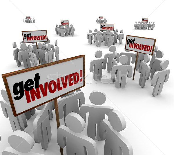 Get Involved People Participate Engagement Interaction Group Mee Stock photo © iqoncept