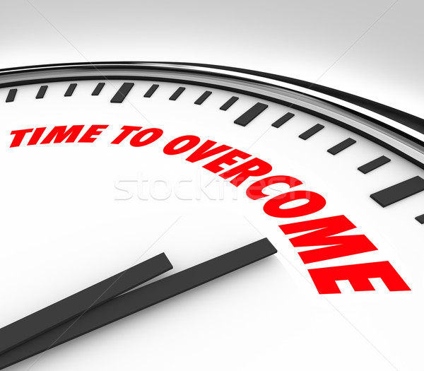 Time to Overcome Clock Beat Conquer Adversity Problem Trouble Stock photo © iqoncept