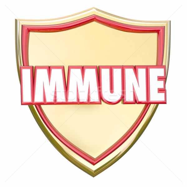 Immune Gold Shield Safe Protection Virus Disease Risk Immunity Stock photo © iqoncept