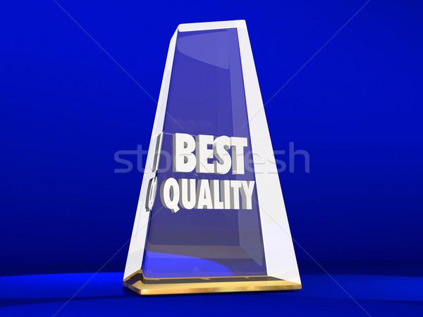 Best Quality Award Trophy Top Reputation Honor Stock photo © iqoncept