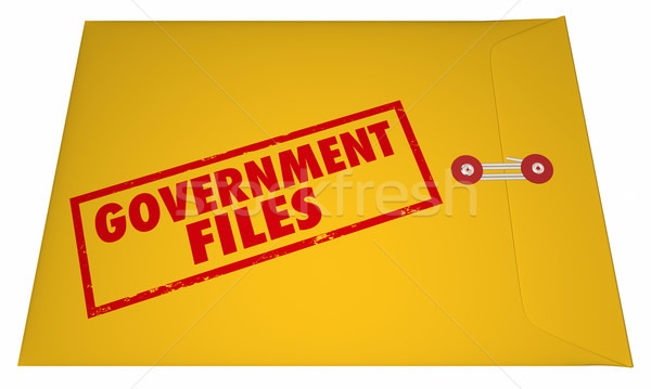 Government Files Records Sealed Classified Confidential Envelope Stock photo © iqoncept