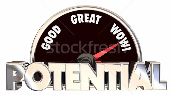 Full Potential Max Possible Opportunity Measure Results 3d Words Stock photo © iqoncept