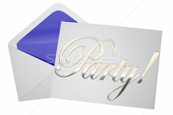 Stock photo: Party Celebration Event Invitation Word 3d Illustration