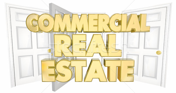 Commercial Real Estate Open Doors Words 3d Illustration Stock photo © iqoncept