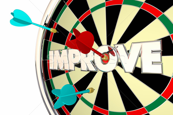 Improve Get Better Word Dard Board 3d Illustration Stock photo © iqoncept