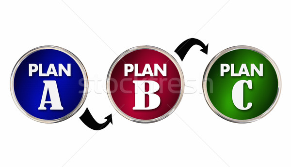 Plan A B C Alternate Trial Back Up Ideas Strategy Circles 3d Ill Stock photo © iqoncept