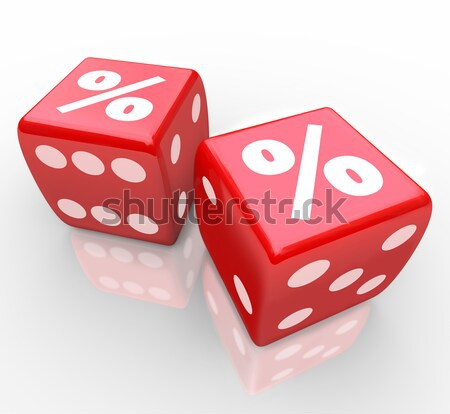 Roll the Dice - Snake Eyes in Gambling Game Stock photo © iqoncept