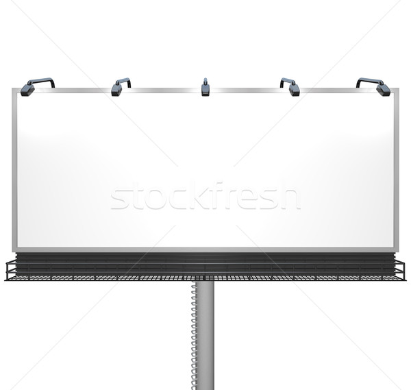 Stock photo: Blank White Billboard Ready for Your Message