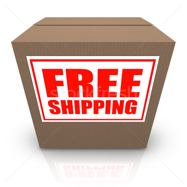 Free Shipping Brown Cardboard Box Order Shipment Stock photo © iqoncept