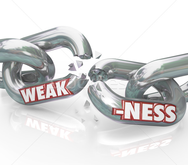 Weakness Word on Breaking Weak Chain Links  Stock photo © iqoncept