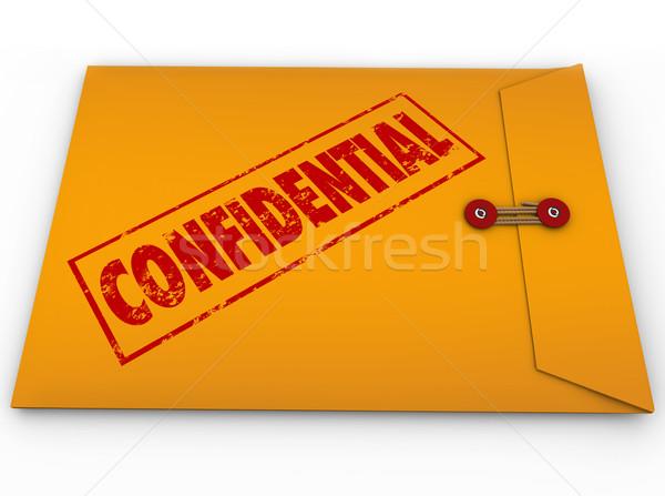 Confidencial envelope segredo informação amarelo Foto stock © iqoncept