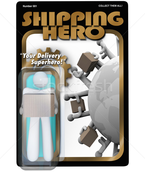 Shipping Hero Action Figure Shipper Delivery Man Stock photo © iqoncept
