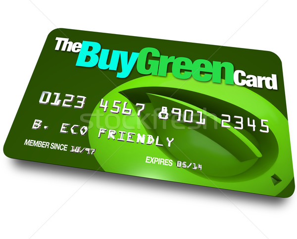 Credit Card - Buy Green Stock photo © iqoncept