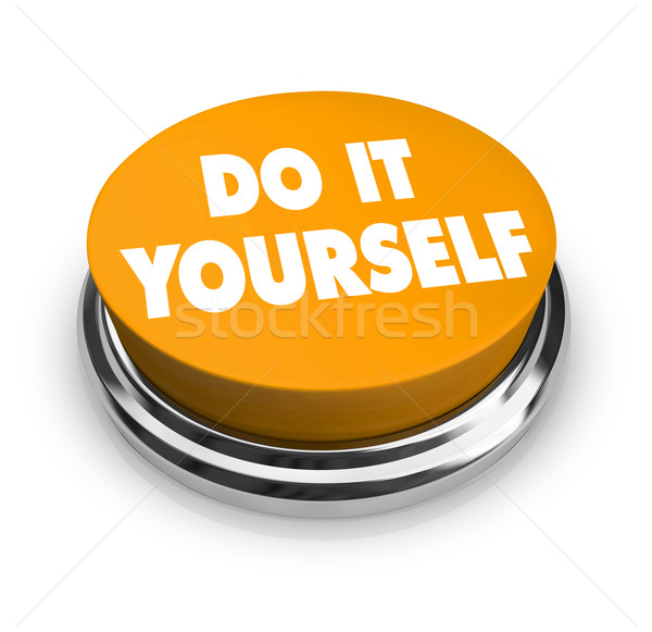 Do it Yourself - Orange Button Stock photo © iqoncept