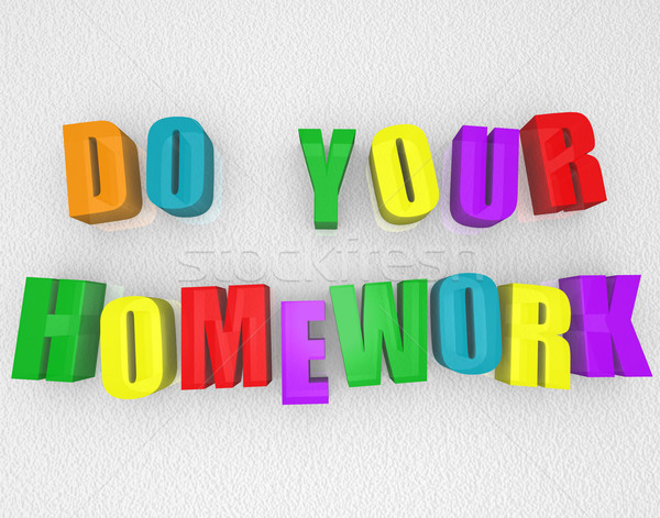 Do Your Homework - Colorful Magnets Stock photo © iqoncept