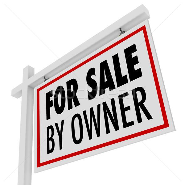 Verkoop eigenaar onroerend home Open huis Stockfoto © iqoncept