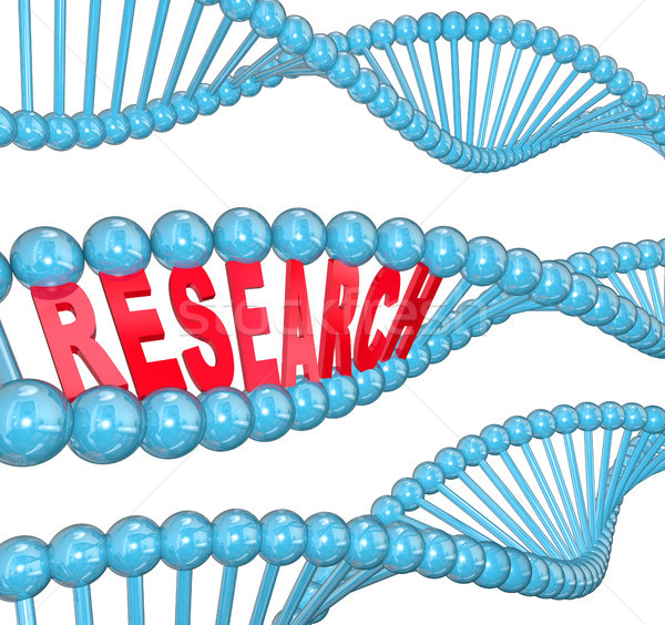 Research Word DNA Strand Medical Laboratory Study Stock photo © iqoncept