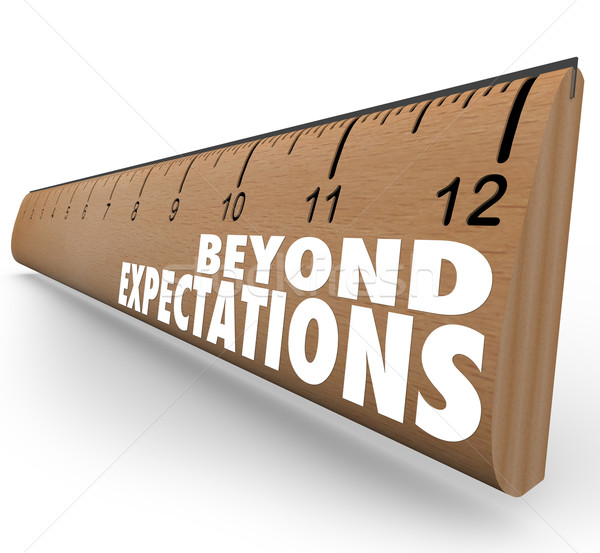 Stock photo: Beyond Expectations Ruler Exceed Results Great Job