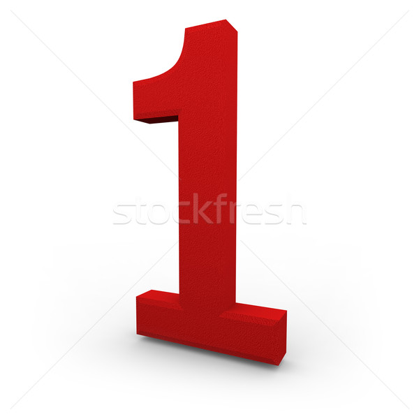 Number One on White Background Stock photo © iqoncept