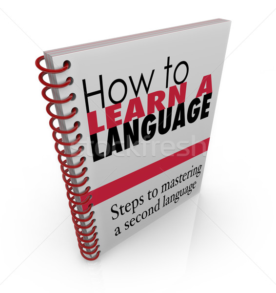 How to Learn a New Language Book Manual Instructions Lesson Stock photo © iqoncept