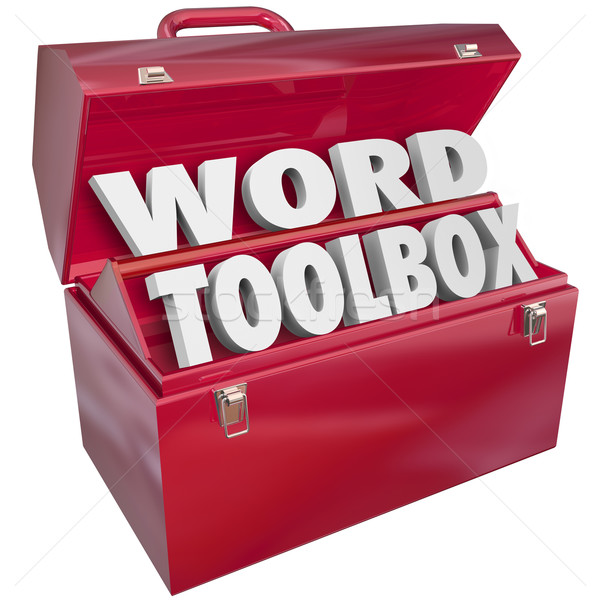 Word Toolbox Teaching Tools Resources Spelling Reading Lesson Ai Stock photo © iqoncept