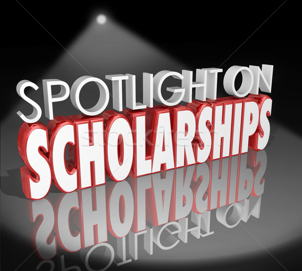 Spotlight on Scholarships Words Tuition Payment College Degree Stock photo © iqoncept