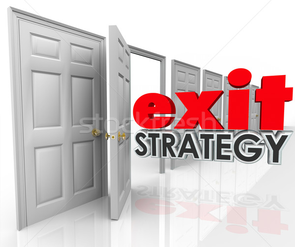 Exit Strategy Open Door Leave Escape Plan Agreement Marriage Stock photo © iqoncept