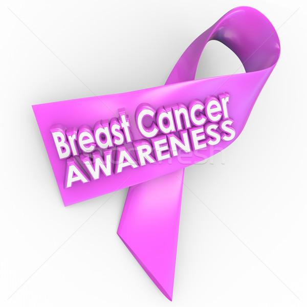 Breast Cancer Awareness Pink Ribbon Cure Cause Fund Raiser Stock photo © iqoncept
