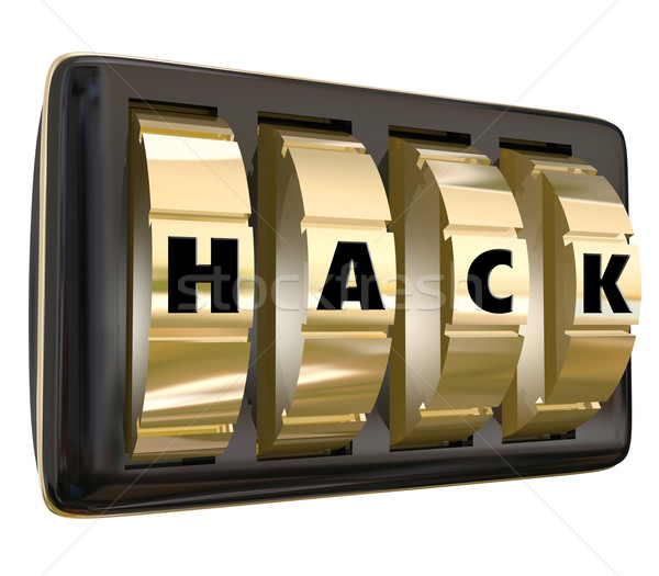 Hack Word Safe Dials Violate Privacy Security Classified Informa Stock photo © iqoncept