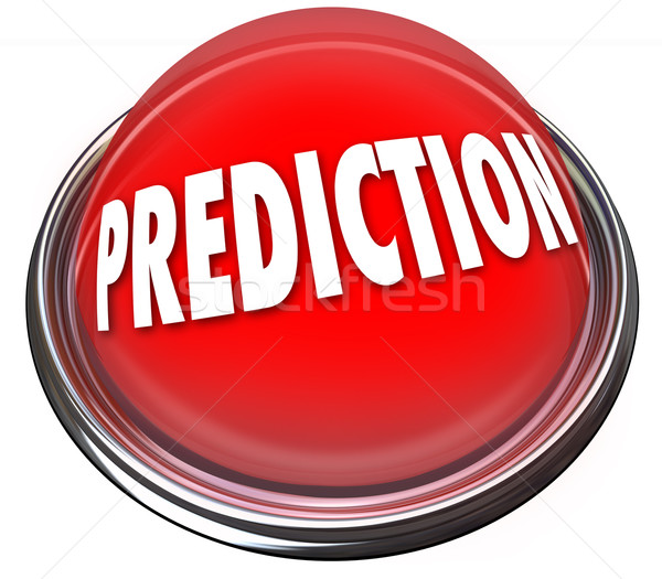 Prediction Red 3d Button Prophesy Fate Destiny Fortune Telling Stock photo © iqoncept