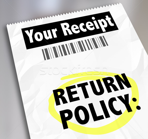 Return Policy Customer Purchase Receipt Store Shopping Exchange Stock photo © iqoncept