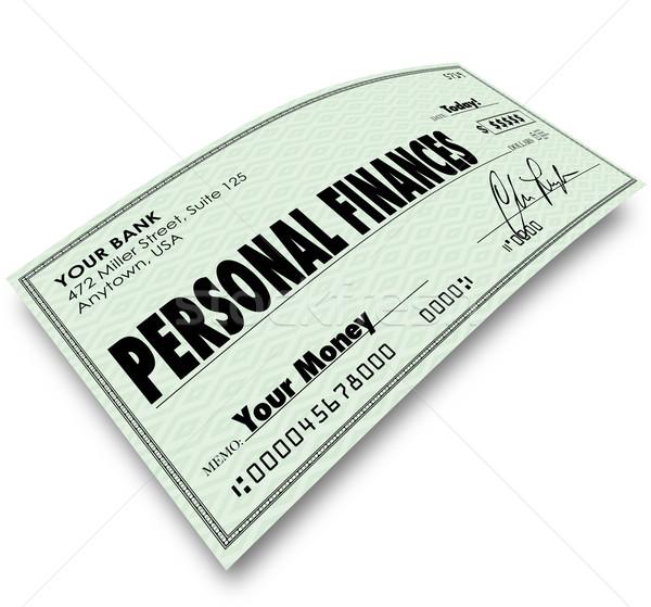 Pessoal verificar despesas Foto stock © iqoncept