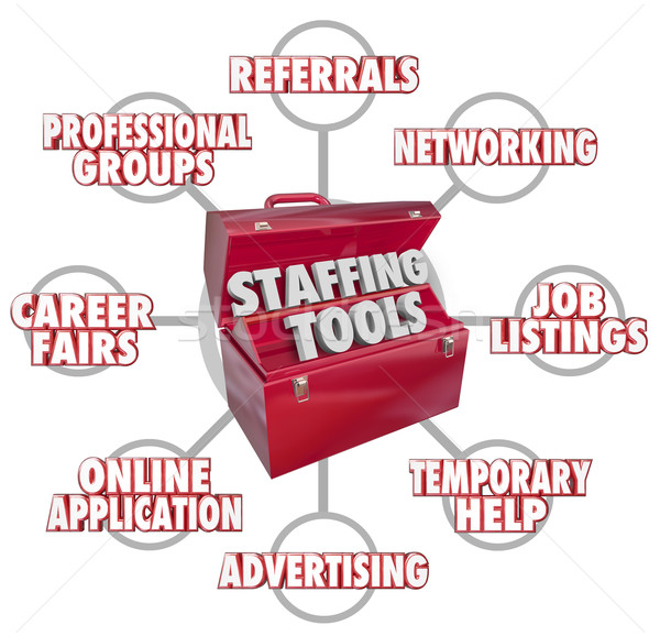 Staffing Tools Toolbox Recruiting New Employees Hiring Workers Stock photo © iqoncept