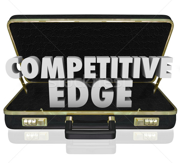 Competitive Edge Briefcase Sales Advantage Presentation Proposal Stock photo © iqoncept