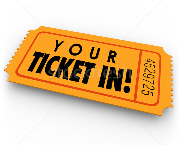 Your Ticket In Guest Access Invitation Special Entry Pass Stock photo © iqoncept