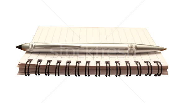 Notepad and Pen Isolated Stock photo © iqoncept