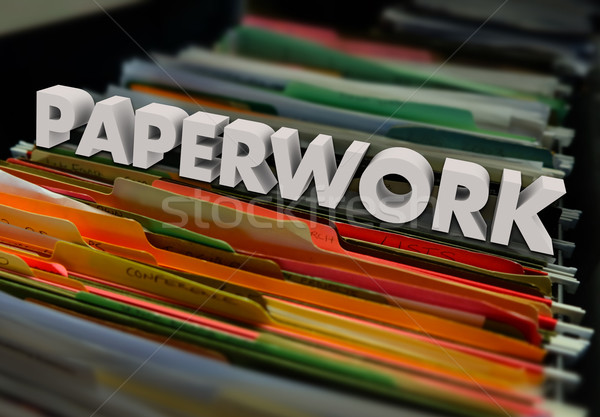 Paperwork File Folders Forms Processing Filing Stock photo © iqoncept