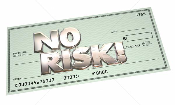 Geen risico controleren gemakkelijk betaling gratis Stockfoto © iqoncept