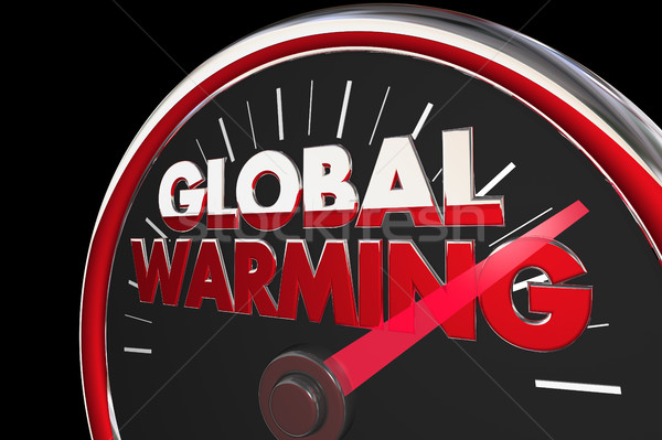 Global Warming Temperatures Rising Climate Change Speedometer 3d Stock photo © iqoncept