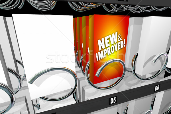 New and Improved Product Snack Machine Better Update 3d Illustra Stock photo © iqoncept