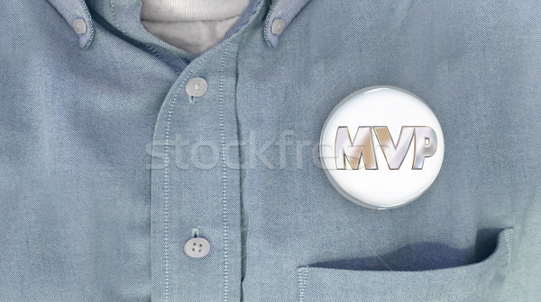 MVP Most Valuable Player Person Button Pin Shirt 3d Illustration Stock photo © iqoncept