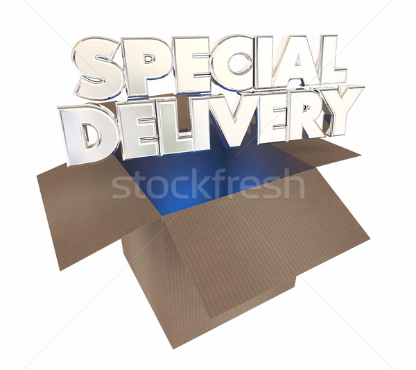 Special Delivery Cardboard Box Shipment Opening 3d Illustration Stock photo © iqoncept