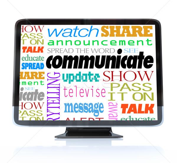 общаться слов высокое разрешение телевидение hdtv слово Сток-фото © iqoncept