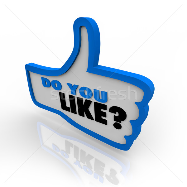 Do You Like Question Mark Thumbs Up Symbol Stock photo © iqoncept