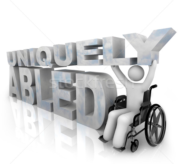 Not Disabled - Uniquely Abled Stock photo © iqoncept