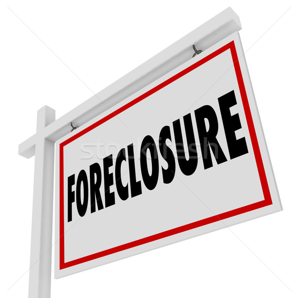 Foreclosure For Sale Real Estate Home Bank Default Mortgage Stock photo © iqoncept